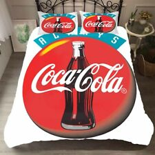 3D Coca Cola Bottle Cap Duvet Cover Queen Bedding Comforter Cover PillowCase