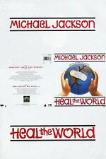 Michael Jackson Heal The World UK dbl sided Promo Poster 1991