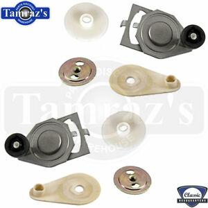 70-81 F-Body Door Glass Window Roller Assembly  -  FRONT L=R Pair