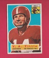 1956 TOPPS Y.A. TITTLE CARD #86 VG - EX CONDITION