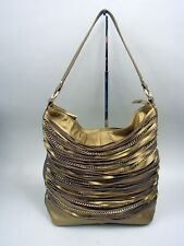 Bodhi Large Leather Shoulder Handbag With Chain Accents