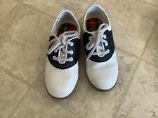 Girls Smartfit Saddle Shoes Oxford Lace Ups Black White Size 11 1/2 11.5