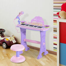 32 Key Kids Piano Electronic Keyboard MP3 w/Microphone & Stool Pink