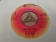"B.B. KING * PHILADELPHIA / UP AT 5 A.M. * 7"" SINGLE ABC RECORDS EXCELLENT 1974"