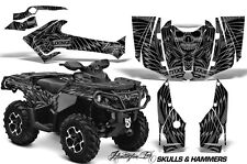 CanAm SST G2 AMR Racing Graphic Kit Wrap Quad Decal ATV 2013-2014 SKULLS & HAMR