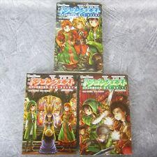 DRAGON QUEST VII 7 Warrior of Eden Game Novel Complete Set 1-3 H. DOMON Book SE*