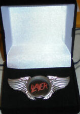 Slayer King Lombardo Heavy Metal Band Wing Live Concert Hat Jacket Badge Pin 666