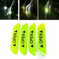 4pcs Super Car Door Open Sticker Reflective Tape Safety Color 4 Decal Warni P6W0