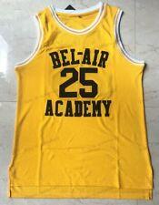 Carlton Banks #25 Fresh Prince of Bel Air Academy Basketball Jersey Sewn Yellow