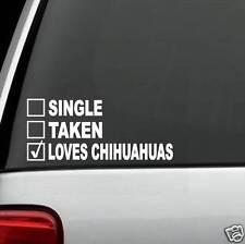 J1006 Single Taken Loves Chihuahua Dog Decal Sticker Car Truck SUV Van LAPTOP
