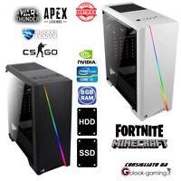 PC GAMING COMPUTER FISSO LED RGB i5 8GB RAM SSD HD NVIDIA HDMI PERSONALIZZABILE