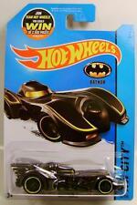 BATMAN BATMOBILE BLACK CHROME 62/250 HOT WHEELS HW 2015 '15 DIECAST