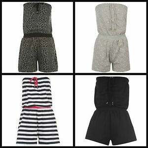 Ladies Womens Playsuit Jump Suit Jumpsuit Holiday Shorts all-in-one Set