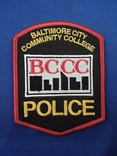 Baltimore City Community College BCCC Police Logo Iron On Patch