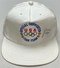 Vintage Official Supporter 1988 USA Olympic Team Snapback Hat, With Olympiad Pin