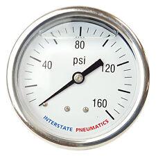 """Oil Filled Pressure Gauge 160 PSI 2-1/2"""" Dial 1/4"""" NPT Rear Mount - G7122-160"""