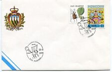 1991-05-25 San Marino Roma Filatelia giovane ANNULLO SPECIALE Cover