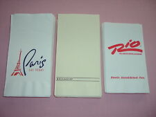 Lot of 32 Las Vegas Nevada Casino Dinner Napkins  Paris Bellagio Rio