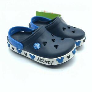 Crocs Toddler Boys Crocband Mickey Mouse IV Clog Disney Navy Blue Size 10/11