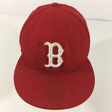 BOSTON RED SOX 59 FIFTY NEW ERA BASEBALL FITTED HAT 7 1/8 RED WOOL