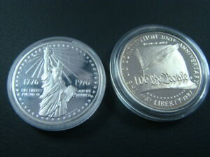 1976 Sterling Silver Bicentennial Medal & 1987 Silver Proof Constitution Dollar