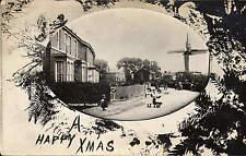 Thornton Village & Windmill. Floral Border.
