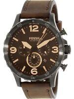 Fossil Men's Nate JR1487 Brown Leather Quartz Fashion Watch