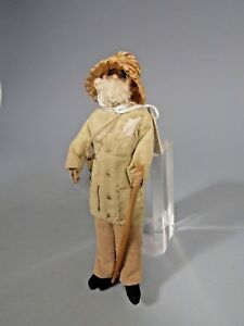 South American Venezuela Cloth Doll Old Policeman Officer Soldier ca. 19-20th c