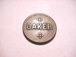 BAKER GOOD FOR 10 CENTS IN TRADE TOKEN