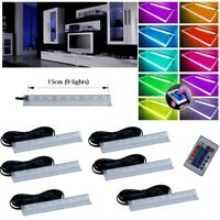 LED 15CM 9 LIGHT lighting set RGB Glass Shelves Shelf Multi Color kit Furnitures