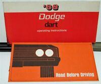 1968 Dodge Dart Owners Manual Care & Operation Instructions Original 340