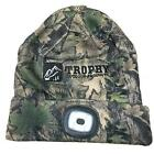 Trophy Outdoor Angler LED Head Light Beanie 200 Lumens Hat USB Charge Cap