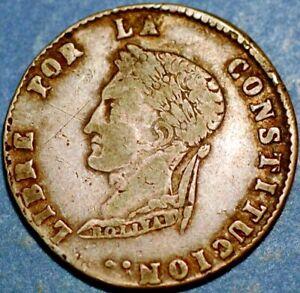 Bolivia Simon Bolivar 4 Sol 1857 FJ PTS Potosi Mint Silver V427
