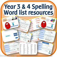 year 3 4 spelling word list teaching resources iwb worksheets activities on cd ebay. Black Bedroom Furniture Sets. Home Design Ideas