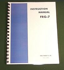 "Yaesu FRG-7 Instruction Manual: 11""x30"" Foldout Schematic & Protective Covers!"