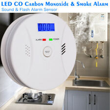 CO & Smoke Alarm Battery Powered Carbon Monoxide Detector , New, Free Shipping