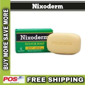 NIXODERM Sulfur Soap For Relieve Common Skin Problems 100% Vegetable Base (100g)