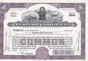 3xThe Sperry Corporation-Aktie-1954