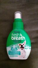 Tropiclean 2.2 Oz Fresh Breath Water Enhancer Drops for Pets Expires 4/2025