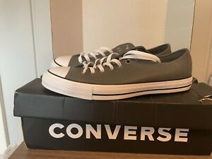 Converse Chuck Taylor Low Top Gray Leather Mens 10/Women's 12 Casual Shoes