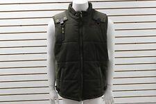 New Men's ROCAWEAR Vest Winter Puffer Jacket Coat Olive