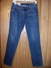 ABERCROMBIE FITCH Mens 28W x 30L Skinny Button Fly Dark Blue Denim Jeans