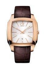 Calvin Klein Herrenuhr Edelstahl Lederband Analog Quarz K2K21620