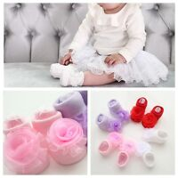 Cute Baby Girl Princess Lace Flowers Infant Toddler NewBorn Soft Cotton Socks