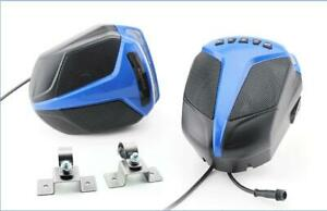 4'' ATV/UTV audio speakers IP4 waterproof motorcycle stereo FM BT mp3 player LR