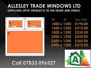 Upvc white window made to measure 1200 wide x 1200 high style 9