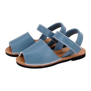 NEW SKEANIE Kids Avarcas Leather Sandals Blue. RRP $69.95