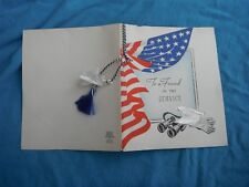 WWII home front greeting card, To A Friend in the service
