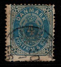 Denmark 1875 Arms 4 ore blue Sg81 Used