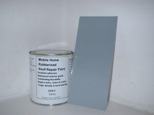 1 x 500ml Grey Leaking Roof Repair Paint. For Caravan, Mobile Home, Horse Box